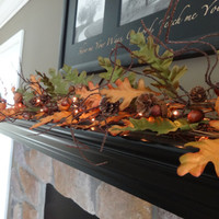 Fall Garland, Mantle Garland, Fall Decoration, Pumpkin Decor, Autumn Harvest, Fall Leaves Garland