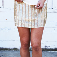 That Night On Broadway Sequin Skirt