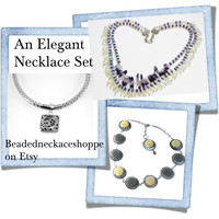 Elegant Necklace Set On Etsy