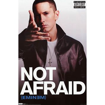 Eminem Not Afraid 2010 Poster 22x34