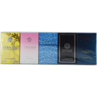 VERSACE VARIETY by Gianni Versace 5 PIECE UNISEX MINI VARIETY WITH MAN EAU FRAICHE & SIGNATURE & BRIGHT CRYSTAL & YELLOW DIAMONDS & EROS AND ALL ARE EDT .17 OZ MINIS
