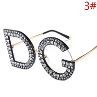 Dolce & Gabbana Women Fashion New More Diamond Letter Travel Leisure Sunscreen Glasses Sunglasses