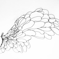 Wire wall art - Wing - Large Sculpture  - bird wing sculpture - gift idea - wall metal sculpture