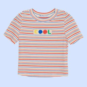 BLUEerror Cool Pacman Cropped Tee   Blue/Green
