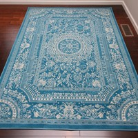 2120 Blue Medallion Traditional Area Rugs