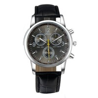 Military Mens Leather Wrist Watch