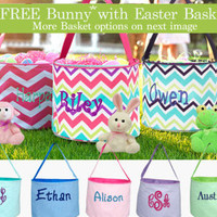 Easter Basket Bucket, Personalized Easter Basket, Personalized Bucket Tote, Monogram Easter Basket, Easter Basket, Monogram Easter Basket