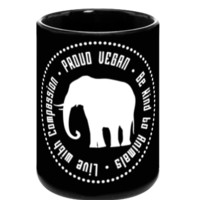 Proud Vegan Coffee Mug in Black