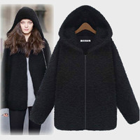 Plus Size Women's Fashion Winter Hats Slim Jacket [9272985220]