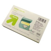 """up & up® - 100ct Ruled Index Cards 3""""X5"""" - Multicolor"""