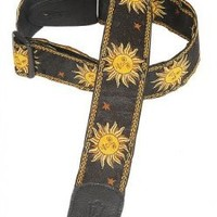 Levy's Leathers MPJG-SUN-BLK Polyester/Vinyl Guitar Strap, Black