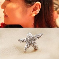 Fashion starfish ear clip   from looback