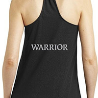 Yoga Clothing for You Womens Warrior Text Yoga Tank Top - Back Print