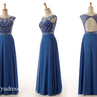 hot selling prom dress, crew neckline prom dress on sale, gorgeous prom dress, elegant evening dress on discount  5100