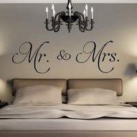 Mr. & Mrs. Vinyl Wall Decal