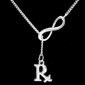 Infinity RX Pharmacist Pharmacy Technician Medical Graduation Gift Necklace