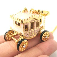Cinderella Fairy Tale Car Horse Carriage Pendant Necklace | Limited Edition Jewelry