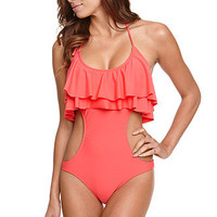 Roxy Surf Essentials Ruffle One Piece at PacSun.com