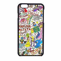 Disney Hakuna Matata Princess Love Art iPhone 6 Case