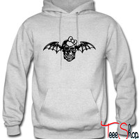 hello kitty bow with skul hoodie
