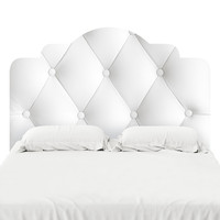 Faux Tufted Headboard Decal