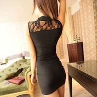 Black Sexy Lovely Lace Dress