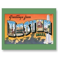 Greetings from Boston, Massachusetts Post Cards from Zazzle.com
