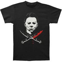 Halloween Men's  Mike Myers T-shirt Black Rockabilia