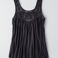AEO Women's Embroidered Drapey Tank