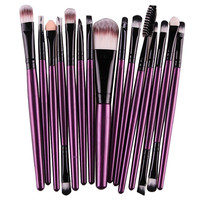 Eyeshadow Brushes Foundation, Eyebrow, Lip 15 piece Brush Set