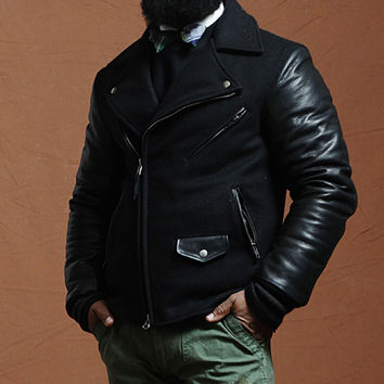Shop — Catalog Products — NEW! Knuckle Head Moto varsity (All Black) | The BKc