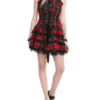 Hell Bunny Harley Tartan Mini Dress