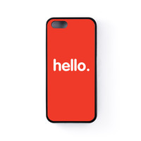 Hello Black Silicon Case Rubber Case for Apple iPhone 5 / 5s by textGuy