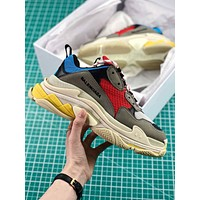 Balenciaga Triple S Trainers Grey Blue Red Sneakers