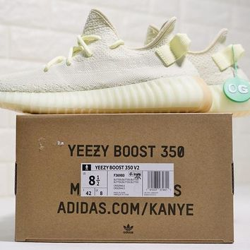 """Adidas Yeezy 350 Boost V2 """"Butter"""" Running Shoes Sneaker F36980"""