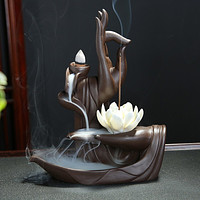 Unique Buddha Lotus Backflow Incense Burner For Decoration