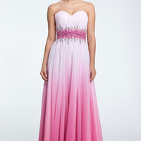 Sean Collection Beaded Waist Strapless Ball Gown | Nordstrom