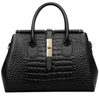 Jack&Chris Ladies Top Handle Tote Bag for Women Crocodile Embossed Purses and Handbags on Clearance, WBDZ024