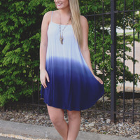Days Fade Dress - Periwinkle