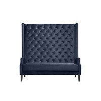 High Tufted Blue Sofa | Eichholtz Spectator