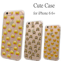 Soft Silicone Emoji Phone Cases for iphone