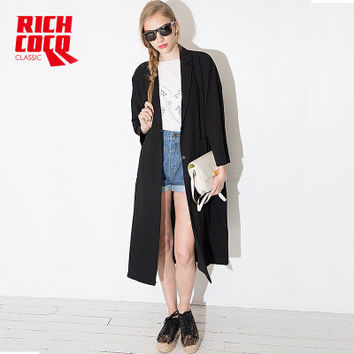 Fashion Loose Button Business Casual Suit Outerwear Jacket Coat Windbreaker a13145