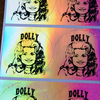 """Dolly Parton Set of Hologram 2"""" Stickers"""