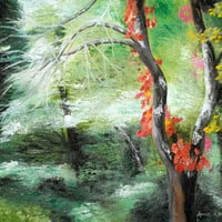 Poison Ivy Impressionist landscape Giclee Print from Original Oil Painting » Craftori