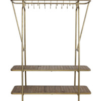 Marlyn Gold Closet Storage System with 2 Shelves