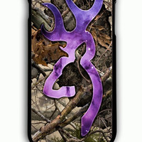 iPhone 6 Plus Case - Rubber (TPU) Cover with Browning Deer Galaxy with Camo Rubber Case Design