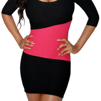 Deep (Black/Dark Pink)-Great Glam is the web's best online shop for trendy club styles, fashionable party dresses and dress wear, super hot clubbing clothing, stylish going out shirts, partying clothes, super cute and sexy club fashions, halter and tube t