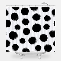 Dalmatian Spots Shower Curtain