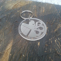 Hydra / SHIELD S.H.I.E.L.D Keyring Marvel Agents of Shield, Captain America, Thor, Iron Man - Laser Cut - UK Made