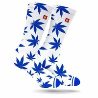 DODGER BLUE OLD SCHOOL WEED MARIJUANA STONER SOCKS